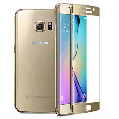 Protetor de tela de vidro temperado para smartphone Samsung Galaxy S7 Edge SM-G935F 5.5 protetor de tela 9H (cor: dourado) novo
