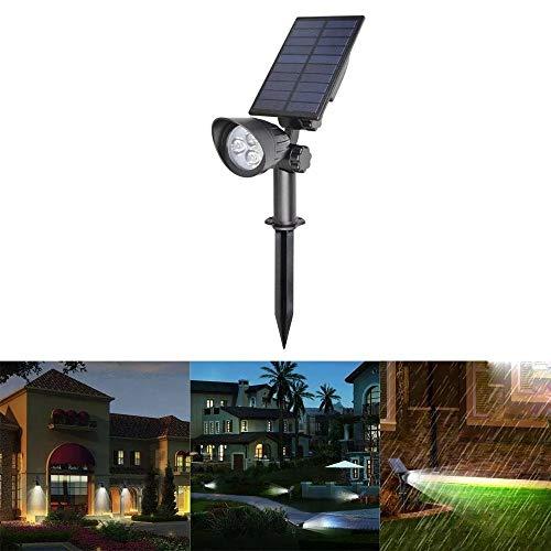 Decorativa Iluminación de paisaje 3W LED con energía solar controlado por la luz del césped Luz impermeable al aire libre Patio Lámpara de pared 3 luces del paisaje,