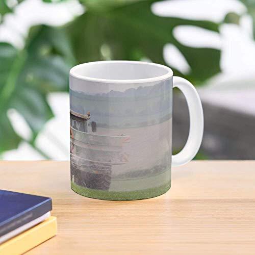 Lsjuee - Esparcidor de fertilizantes Claas Ares y Amazone. Tazas de café de cerámica de 11 oz con asa en forma de C, cómodas de sostener. Tazas de cerámica brillantes de 11 onzas de regalo para aman