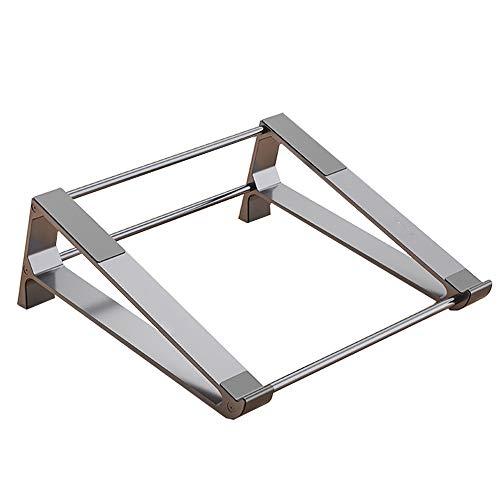 ノートパソコンスタンド タブレット スタンドユニバーサ 多機能 PCホルダー 縦置き 収納 アルミ合金素材 PCスタンド (グレー)