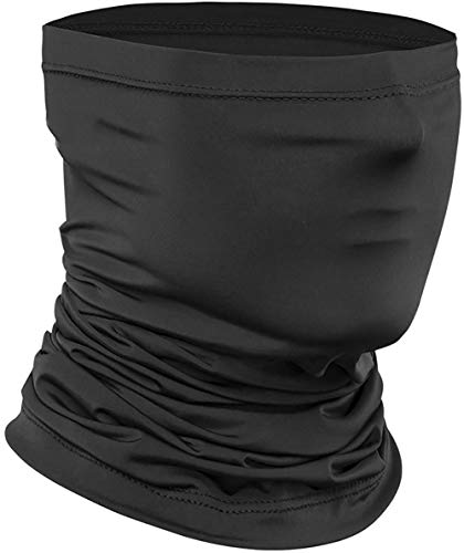 Neck Gaiter,Ice Silk Cooling Sports Face Scarf for Dust Outdoors for Mens and woman Black