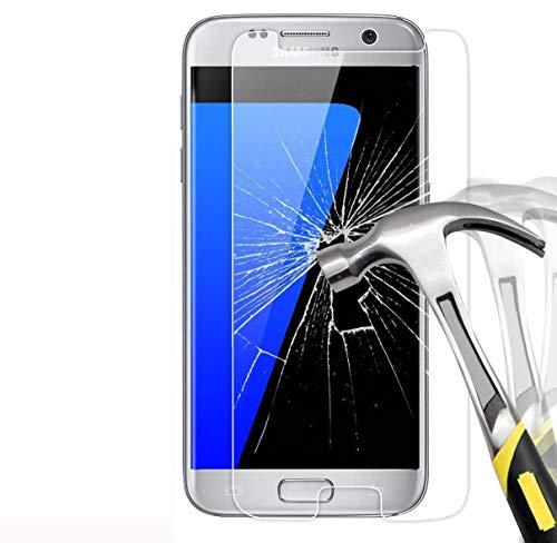 FoneExpert® 2 Pack - Samsung Galaxy S7 Verre Trempé, Vitre Protection Film de Protecteur d'écran Glass Film Tempered Glass Screen Protector pour Samsung Galaxy S7