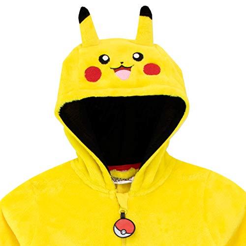 Pokemon Pijama Entera para niños Pikachu Amarillo 10-11 Años