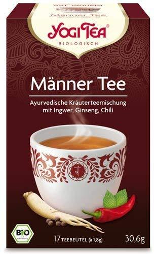 Yogi Tee, Männer-Tee Ayurvedische Teemischung, Biotee, Zutaten aus kontrolliert ökologischem Anbau, 17 Teebeutel, 30,6g