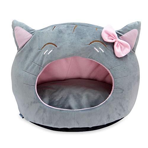 Zjyfywpj Das Katzenförmige Katzennest ist Angenehm Weich Winddicht und Warm und Kann Überall Im Haus Aufgestellt Werden (Farbe : Grau)