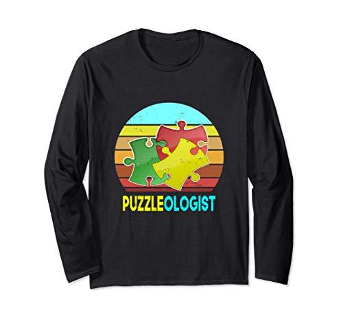 男性女性子供のためのジグソーパズル恋人パズル専門家 長袖Tシャツ