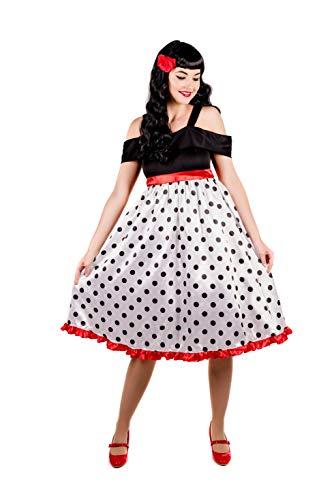 Fun Shack Blanca Rockabilly De Los Años 50 Disfraz para Mujeres - XXL
