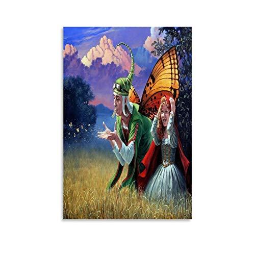 GSSD Michael Cheval Poster mit Sommerversprechen, dekoratives Gemälde, Leinwand, Wandkunst, Wohnzimmer, Poster, Schlafzimmer, Gemälde, 60 x 90 cm