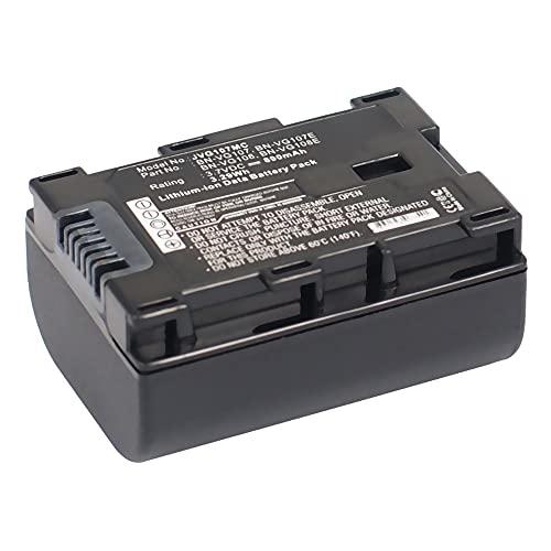 subtel® Batería de Repuesto BN-VG107,-VG108,-VG114,-VG121 per JVC GZ-E15, GZ-EX315, EX215, GZ-HM550, HM30, HM310, HM330, GZ-HD620, GZ-MG750, GZ-MS110, MS210, 890mAh, Accu Sustitución Camara, Battery