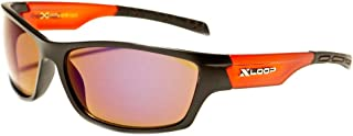 Performance Mirrored Lens Polycarbonate Wrap Frame Unisex Sport Sunglasses With Hard Carry Case