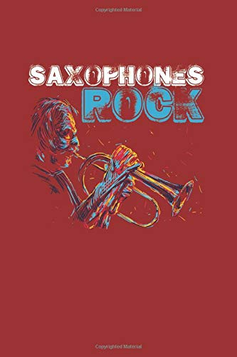 Saxophones Rock: Cool Animated Design For Saxophone Player Instrument Lover Any Occasion Notebook Composition Book Novelty Gift (6