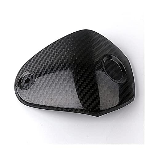 Danghe Adecuado YAMAHA XMAX 300 XMAX300 2017 2018 Accesorios de la scooter de la motocicleta Cubierta del asiento de la abrazadera del manillar de la fibra de carbono (Color : Black)