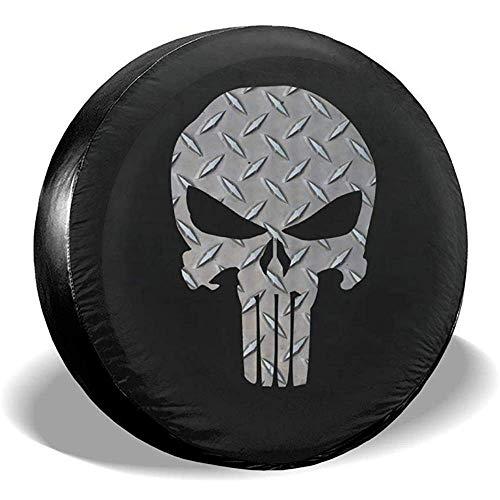 Hiram Cotton Spare Tire Cover Copriruota di Scorta in Cranio di Poliestere Impermeabile Antipolvere Copriruota per Ruota di Scorta Universale Adatto per Jeep,Fuoristrada E Molti Veicoli