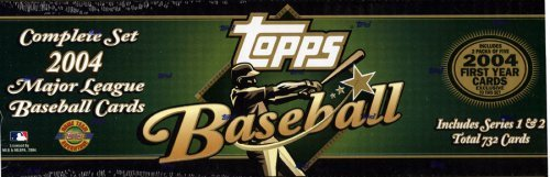 2004 Topps Baseball Hobby (HTA Limited Edition) Holiday Factory Set (Green) - 732 Cards (Plus Bonus)