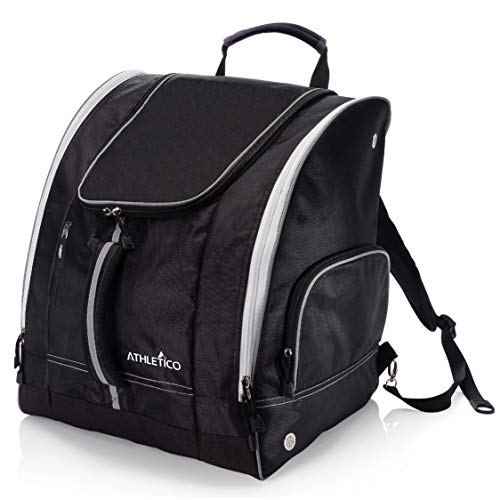 Athletico borsa porta scarponi da sci–Sci e snowboard bagaglio di viaggio–contiene Gear con giacca, casco, occhiali, guanti e accessori–ventilazione e gommini per neve di drenaggio, Black