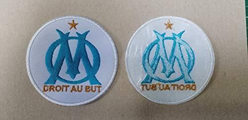 BLUE HAWAI S005 Patch ECUSSON LOT 2 Patchs THERMOCOLLANT 8 CM // Om Marseille Droit AU But - Lot DE 2