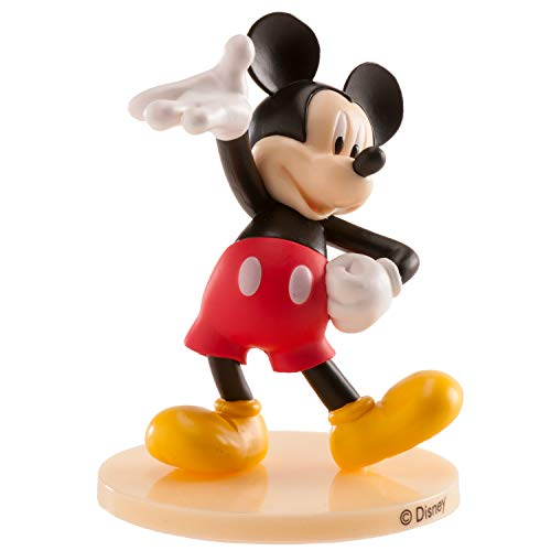 Dekora - Decorazione per torte con la figura di Topolino in PVC con la sua caratteristica pose di benvenuto