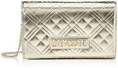 Idea Regalo - Love Moschino Jc4247pp0a, Pochette da Giorno Donna, Oro (Platinum), 7x14x22 cm (W x H x L)