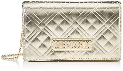 Love Moschino Damen Jc4247pp0a Clutch für den Tag, Gold (Platinum), 7x14x22 Centimeters (W x H x L)