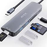 USB C HUB Hdmi 6-IN-1 Typ C Adapter Dockingstation 4K HDMI USB 3.0 -Anschlüsse,...