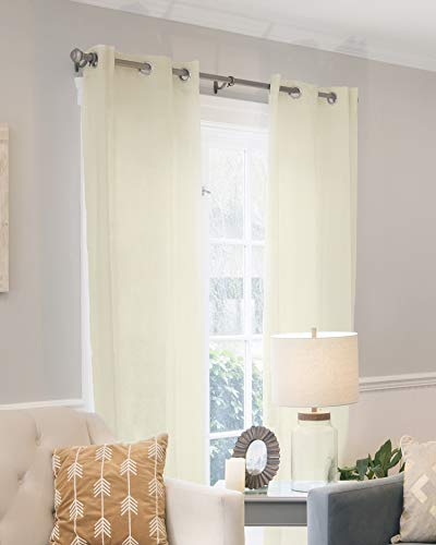 CHICOLOGY Curtain Panels, Grommet Top Window Drapes, Virginia Cream (Privacy & Light Filtering) - 52