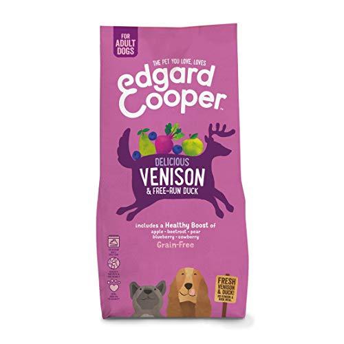 Edgard & Cooper, Croquettes chien Sans Cereales Hypoallergénique, Nourriture chien Adulte Naturelle Chevreuil Frais & Canard élevé en Plein air, Alimentation équilibrée complète saine de qualité (7KG)