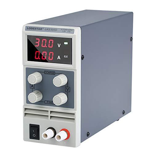 Baugger Mini Fuente de Alimentación de Cc - Fuente de Alimentación Dc de Conmutación 3 Dígitos Pantalla Led 0-30V 0-5A Fuente de Alimentación Mini Ajustable de Alta Precisión 110-V /