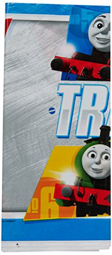 """amscan 571752 Thomas All Aboard Plastic Table Cover, Party Favor 54"""" X 96""""1 ct."""