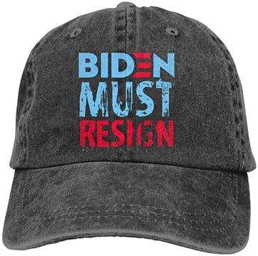 Unisex Classic Biden Must Resign Dad Hat Men Women Adjustable Baseball Cap Sandwich Hat