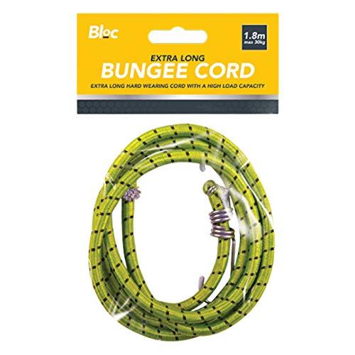 Cuerda elástica resistente de 1,8 m | equipaje de viaje para el techo del coche, cuerda extra larga (amarillo)