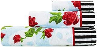 Betsey Johnson Skull Garden Towel Set, 52x27, Turquoise-Aqua