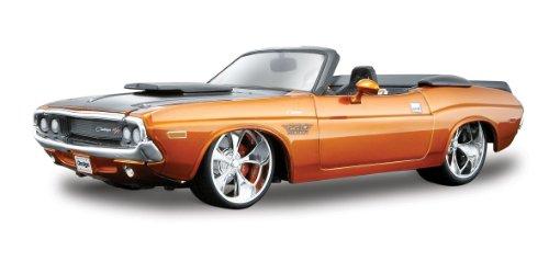 Modellauto ProRodz Dodge Challenger R/T Cabrio '70 grün, Modellautos, Maßstab 1:24, Maisto Custom Shop Modelle