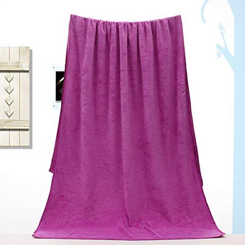 Lyolk Toallas de Cama para Adultos, Toallas absorbentes Suaves-Morado Medio_80 * 180