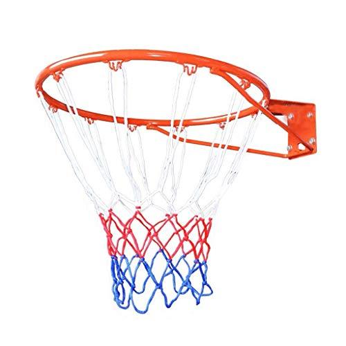 Chenhan Pared Aro de La Red del Aro de Baloncesto Profesional Hoop de Baloncesto Montado con 4 Tornillos para Niños para Jóvenes Adultos al Aire Libre Cesta Colgante Aro de Baloncesto