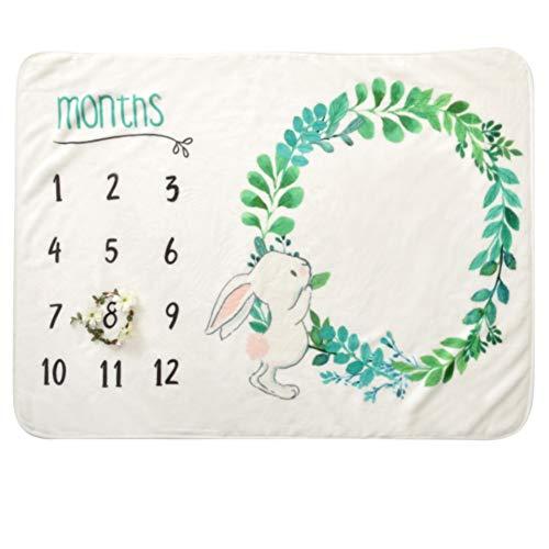 COUXILY Meilenstein Poto Decke für Neugeborene oenbopo Baby Monatliche Milestone Fotografie Requisiten Shoots Hintergrund Tuch 70 * 102 cm (B04)