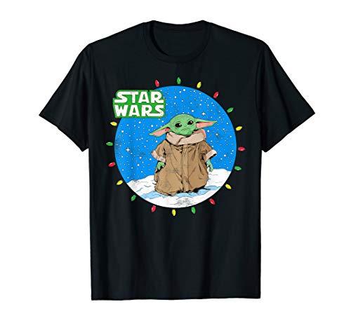 Star Wars The Mandalorian The Child Christmas Lights T-Shirt
