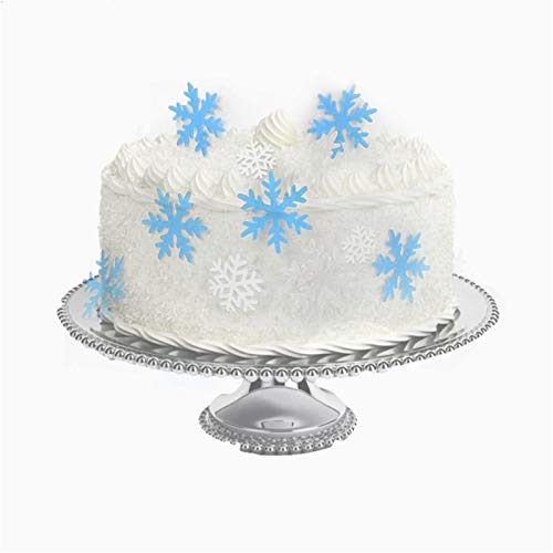 50 pcs Snowflakes Cake Toppers Snowflakes