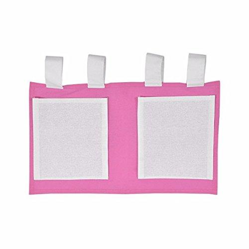 XXL Discount Sac de Jeu pour lit d'enfant Rose/Blanc 48 x 30 cm 100% Coton