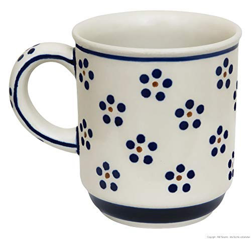 Original Bunzlauer Keramik Becher mit Henkel 0,25 Liter im Dekor 1