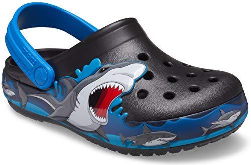 crocs unisex child Kids' Fun Lab Light Up | Light Up Shoes for Kids Clog, Shark, 13 Little Kid US