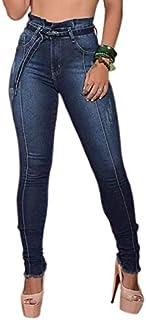 Calça Clochard Escura Feminina Jeans Super Skinny