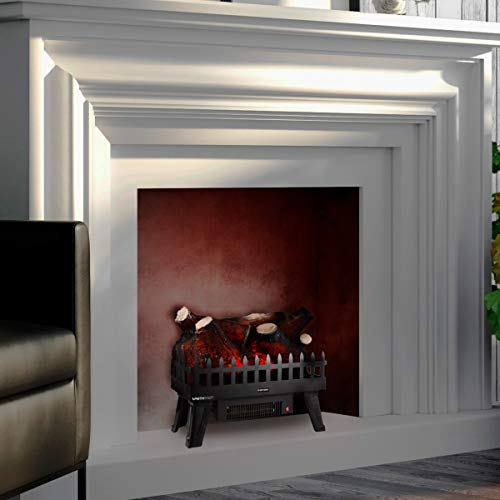 Northwest Electric Log Insert for Fireplaces-Heater with Realistic Energy Efficient LED Glowing Flame Ember Bed-Home and Hearth Accessories