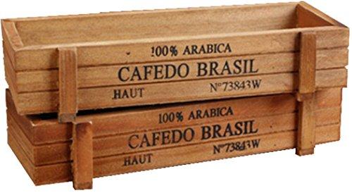 木製 プランター 2個 収納 木 ウッド ボックス 植物 植木 鉢 入れ物 花 鉢植え 小物入れ 【櫻文庫】