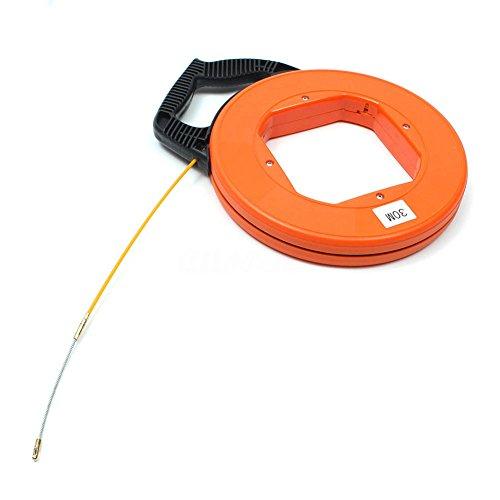 PerGrate Kabel einzugshilfe, 30 Meter Fiberglas Fisch Tape Reel Puller Leitung Kanal Rodder Ziehen Draht Kabel Angeln Werkzeug, Elektriker Werkzeuge