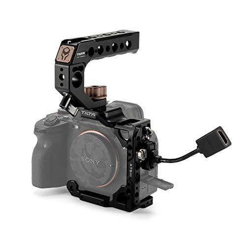 (Black) TILTA TA-T18-B-B Half Camera Cage + Top Handle para Sony Alpha 7S III / A7S III / A7S3 Cámara Jaula Rig Tiltaing Kit B