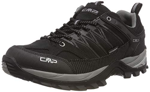 CMP Rigel Low Trekking Shoe WP, Scarpe da Arrampicata Basse Uomo, Nero (Negro-Grey 73uc), 42 EU