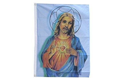 Flaggenfritze Fahne/Flagge Jesus mit Stern + gratis Sticker