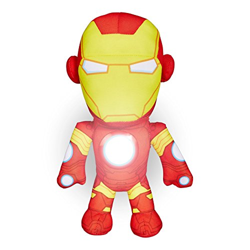 Worlds Apart -Peluche lumineuse - Les Avengers - Ami lumineux pour la nuit GoGlow Iron Man des Avengers - Peluche veilleuse - Multicolore (Ref: 257ANV)