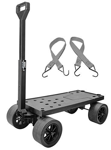 Mighty Max Cart Multi Purpose Utility Dolly Platform Truck - No Flat Wheels Pull Cart - 300 lb Capacity (Dolly-Flat)