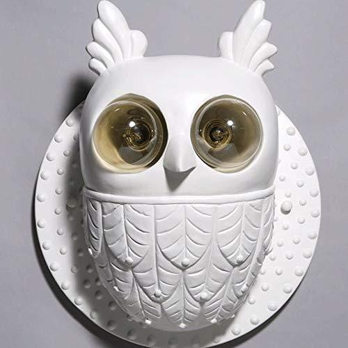 Owl Wandlamp Creative Cartoon Bar/Restaurant/Cafe Outdoor decoratieve Bracket Light E27 Lichtbron (zonder lampen)